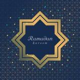 Het vlakke ontwerp van Ramadan Kareem voor kaart vector illustratie