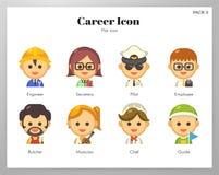 Het vlakke pak van het carrièrepictogram royalty-vrije illustratie