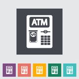 Het vlakke pictogram van ATM Stock Foto