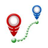 Het vlakke pictogram van de kaartwijzer, illustratie Vlakke ontwerpstijl Stock Fotografie