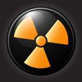 Het vlakke pictogram van het stralingssymbool Royalty-vrije Stock Afbeelding