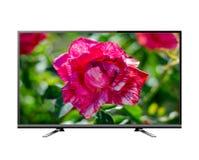 Het vlakke scherm lcd, plasma realistische illustratie van TV royalty-vrije stock afbeeldingen