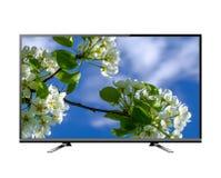 Het vlakke scherm lcd, plasma realistische illustratie van TV stock afbeelding