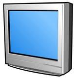Het vlakke Scherm of Televisie Stock Foto