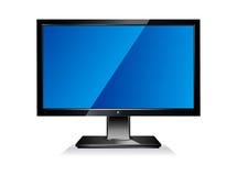 Het Vlakke Scherm van de computer Royalty-vrije Stock Afbeelding