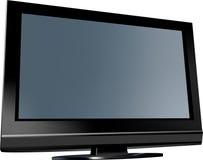 Het vlakke scherm van TV Royalty-vrije Stock Afbeeldingen