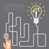 Het vlakke van de de innovatie gloeilamp van het stijl moderne idee infographic concept royalty-vrije illustratie