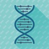 Het vlakke vectorpictogram van DNA Royalty-vrije Stock Afbeeldingen