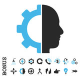 Het Vlakke Vectorpictogram van het Cyborgtoestel met Bonus Stock Afbeeldingen