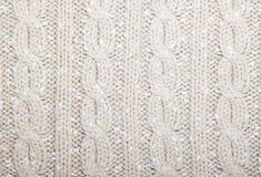 Het vlechtenpatroon breit beige kleur Royalty-vrije Stock Foto's