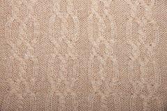 Het vlechtenpatroon breit bruine kleur Royalty-vrije Stock Foto