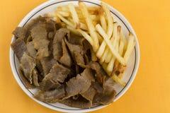 Het Vlees & de Spaanders van Donner Royalty-vrije Stock Foto