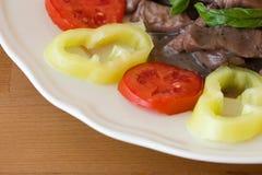 Het vlees met versiert Stock Afbeelding