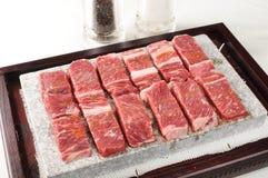 Het vlees van de barbecue Stock Afbeeldingen