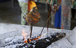 Het Vlees van de barbecue Stock Foto's