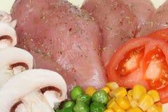 Het vlees van de kip Stock Foto's