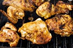 Het vlees van de kip bij de grill Royalty-vrije Stock Foto's
