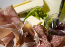 Het vlees van de lunch Stock Foto's