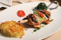 Het vlees van de maaltijd Stock Foto