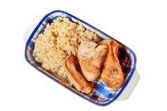 Het vlees van de rijst en van de kip Royalty-vrije Stock Fotografie
