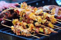 Het vlees van het braadstuk Stock Foto's