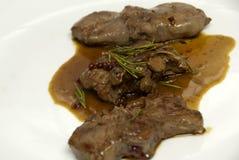 Het vlees van het hertevlees - een heerlijke schotel stock afbeelding