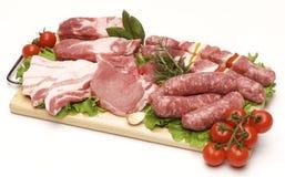 Het vlees van het varkensvlees voor barbecue Stock Foto