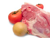 Het vlees is varkensvlees Stock Fotografie