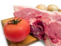 Het vlees is varkensvlees Royalty-vrije Stock Afbeelding