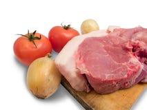 Het vlees is varkensvlees Stock Afbeeldingen