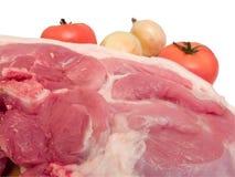 Het vlees is varkensvlees Stock Afbeelding