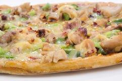 Het vleespizza van de kip met paprika Stock Foto