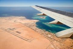 Het vliegen aan Afrika Stock Foto