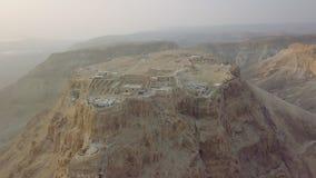 Het vliegen aroun Masada blijft stock footage