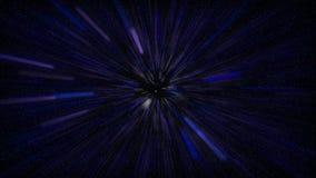 Het vliegen in blauwe ruimte Stock Foto
