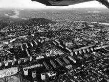Het vliegen boven Boedapest Royalty-vrije Stock Fotografie