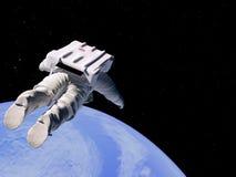 Het vliegen boven de Aarde. stock illustratie