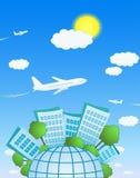 Het vliegen boven de planeet Royalty-vrije Stock Foto