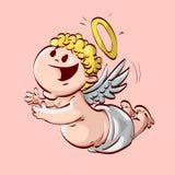 Het vliegen de engel van de beeldverhaalbaby Stock Fotografie