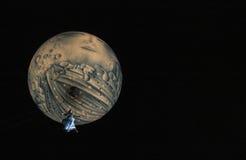 Het vliegen de Engel van de Maan Stock Afbeelding