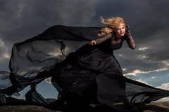 Het vliegen in de wind Stock Foto