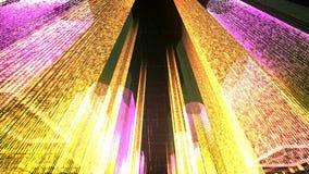Het vliegen door de Digitale Stad in het commerciële en telecommunicatienetwerk van Internet het 3d teruggeven Royalty-vrije Stock Fotografie