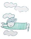 Het vliegen door de Wolken royalty-vrije illustratie