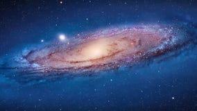 Het vliegen door een stergebied in kosmische ruimte Oneindig Kosmos ster-Gebied stock video