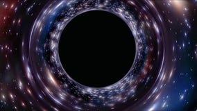 Het vliegen door een stergebied in kosmische ruimte Oneindig Kosmos ster-Gebied vector illustratie