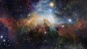 Het vliegen door een stergebied in kosmische ruimte Oneindig Kosmos ster-Gebied royalty-vrije illustratie