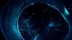 Het vliegen door stergebieden in diepe ruimte stock video