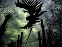 Het vliegen engel. Stock Foto