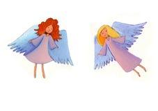 Het vliegen engelen Stock Afbeeldingen