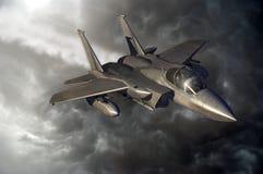 Het vliegen F15 stock illustratie